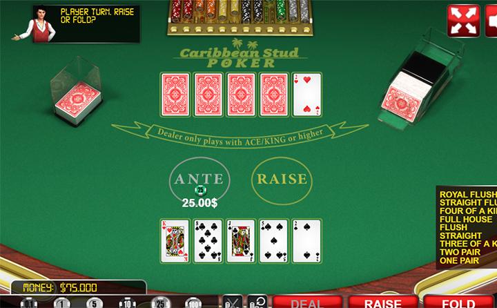 بوكر كاريبيان Caribbean Stud Poker